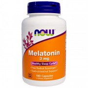 NOW Melatonin 3 mg - 180 капс.