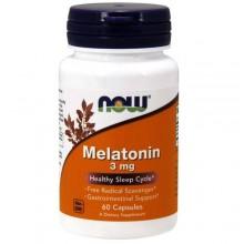NOW Melatonin 3 mg - 60 капс.
