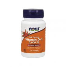 NOW Vitamin D-3 5000 ME - 120 капс.