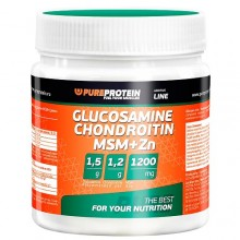 PureProtein Glucosamine Chondroitin MSM+Zn - 100 гр.